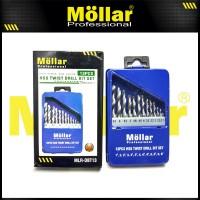 MOLLAR Mata Bor Set Besi 13 Pcs HSS 1.5 mm - 6.5 mm