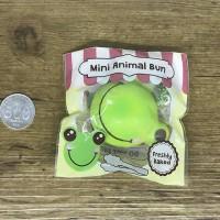 Squishy Original Punimaru Green Frog Mini Animal Bun