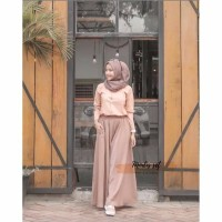 TERMURAH Gamis baju setelan Wanita Remaja Kekinian Jalan jalan Hijab