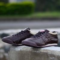 Free Bonus !! Sepatu Jogging Murah Pria Asic Tyger Mexuco Brown