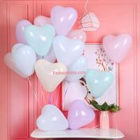Balon Latex/Lateks Bentuk Hati Macaron /Love Macaron Size 10 inch