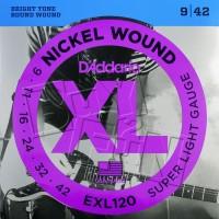 Daddario EXL120 0.09 Senar Gitar Elektrik D'addario USA (bonus pick)