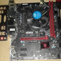 msi h110m gaming lga 1151 + prosesor i3 6300 skylake spek di atas 6100