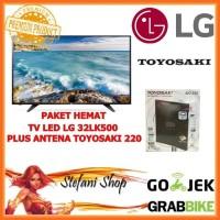 Bundle Combo TV LED LG 32LK500 Digital HD Plus Antena Toyosaki Aio 220
