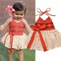 Kostum moana anak import hi quality / dress moana disney princess baju