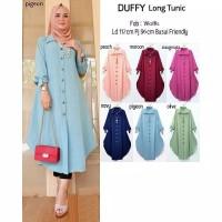 Duffy Long Tunik Baju Muslim Wanita Bahan Twiscone