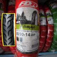 Ban Luar Motor FDR 80/90-14 Flemmo (Non Tubeless) Ring 14 Original