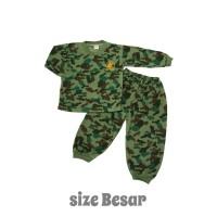 Setelan Baju Lengan Panjang Anak Army size Besar/Piyama Anak/Baju Anak