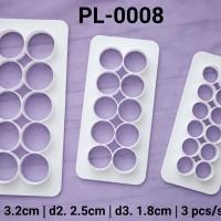 PL-0008 Cookie fondant gumpaste cake cutter cetakan kue kering bulat
