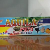 AQUILA P970 3in1 TOP FILTER POMPA AIR CELUP FILTER AQUARIUM