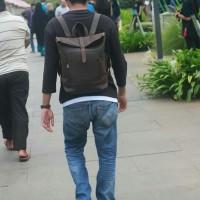 tas kulit asli pria - tas rolltop kulit asli premium - tas pria kulit