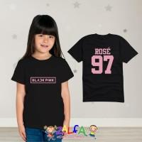 Tshirt Kaos Baju Anak Anak Blackpink Kpop Rose 97 - By Zalfa