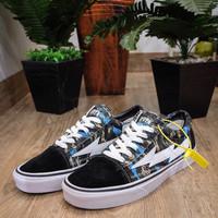 Sepatu Vans Oldskool Revange X Storm Black blue