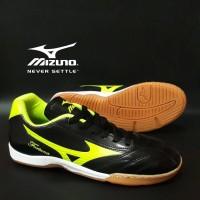 Sepatu Futsal Mizuno Fortuna Hitam Hijau Import