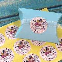 Sticker Label Happy Birthday Unicorn / Label Kado Sticker souvenir