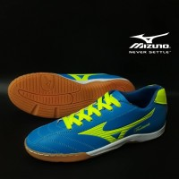 Sepatu Futsal Mizuno Fortuna Biru Hijau Import Sport