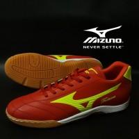 Sepatu Futsal Mizuno Fortuna Merah Hijau Import Sport