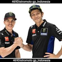 Polo Hem Shirt Motogp Monster Yamaha Racing Team