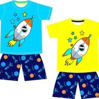 Baju anak karakter kekinian-setelan anak roket-