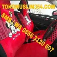 Sarung Jok Mobil 18 in 1 Mickey minnie Mouse All size / Universal