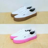Sepatu Sneakers Kasual Vans Authentic Putih - Sol Gum/Sol Pink