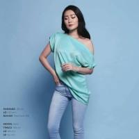 Calendula Top baju blouse wanita cewek sabrina off one shoulder