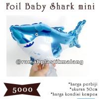 Balon foil baby shark / hiu mini/ kecil