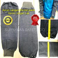 apron lengan jin/apron lengan jeans/manset jeans/lengan las