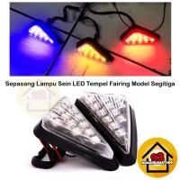 Lampu Sein Tempel Fairing Body Motor LED Model Segitiga Variasi Motor