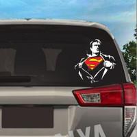 STIKER MOBIL CUTTING STICKER SUPER HERO - SUPERMAN BUKA BAJU