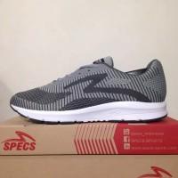 Sepatu Running/Lari Specs Overdrive Ash Grey 200530 Original BNIB
