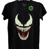 Baju Kaos Tshirt Anak Cowok Venom Glow In The Dark Karakter