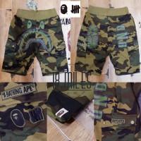 celana pendek cargo BAPE X undefeated shark camo/loreng/army UNISEX