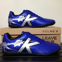 New Sepatu Futsal Kelme Star Evo Royal Blue Silver 1103703 Original