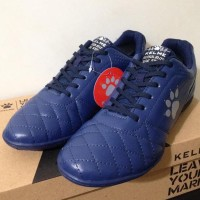 New Sepatu Futsal Kelme Power Grip Navy Silver 1102107 Original BNIB
