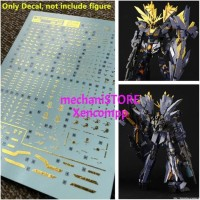 HOT SALE Water Decal RG Unicorn Gundam BANSHEE NORN Bronzing DL MODEL
