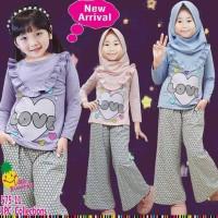 baju muslim anak little pineapple 575-11 kulot love