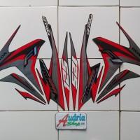 Stiker Striping Motor Honda Vario Techno Iss 125 FI 2014 Darkgrey
