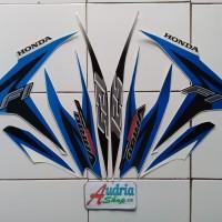 Stiker Striping Motor Honda Vario Techno 125 FI 2013 Putih-Biru