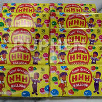 Balon Tiup Sedotan Jadul HHH (1 Kotak isi 32 Odol)