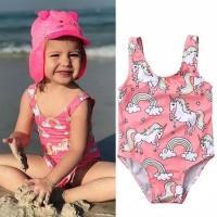 Baju Renang Bayi Perempuan Motif Unicorn