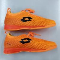 Sepatu Sepak Bola Futsal Putsal Lotto Spark In Orange Black Original