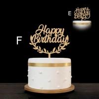 Cake Topper / Topper Kue - Happy Birthday - Hiasan Kue Ulang tahun