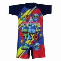 Baju Renang Anak TK Karakter Tayo Size M - XL