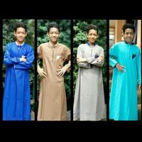 jubah anak baju muslim anak laki remaja tanggung gamis anak katun