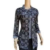 batik blouse wanita monochrome songket