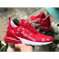 SNEAKERS LARI SEPATU BADMINTON Nike Air Max 270 Supreme LV RED High P