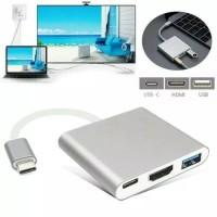 Konektor USB Type C To Macbook Air / Pro UltraSlim 3 in 1 C/HDMI/USB
