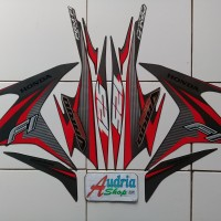 Stiker Striping Motor Honda Vario Techno Cw 125 FI 2014 Darkgrey