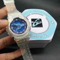 Jam Wanita Casio Baby G BA-110 Purple Transparant Ori Bm